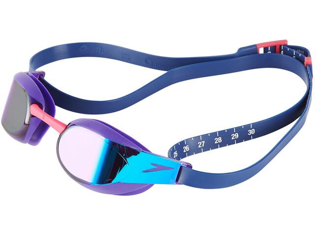 speedo Fastskin Elite Mirror Goggle Violet/Blue Mirror